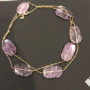 ABS Allen Schwartz pink quartz necklace